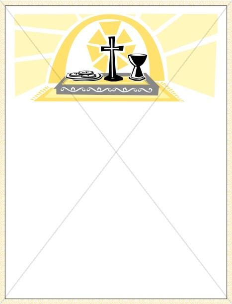 Communion Certificate Gold Border