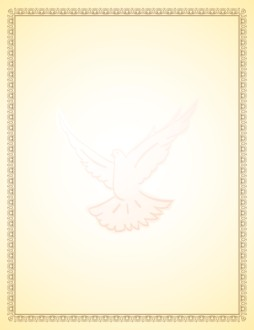 Communion Certificate Border with Dove