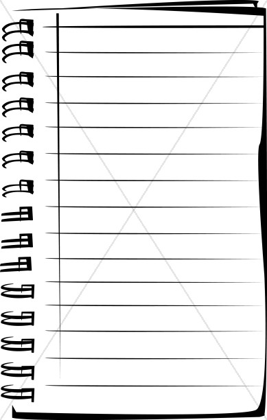 Blank Lined Notepad