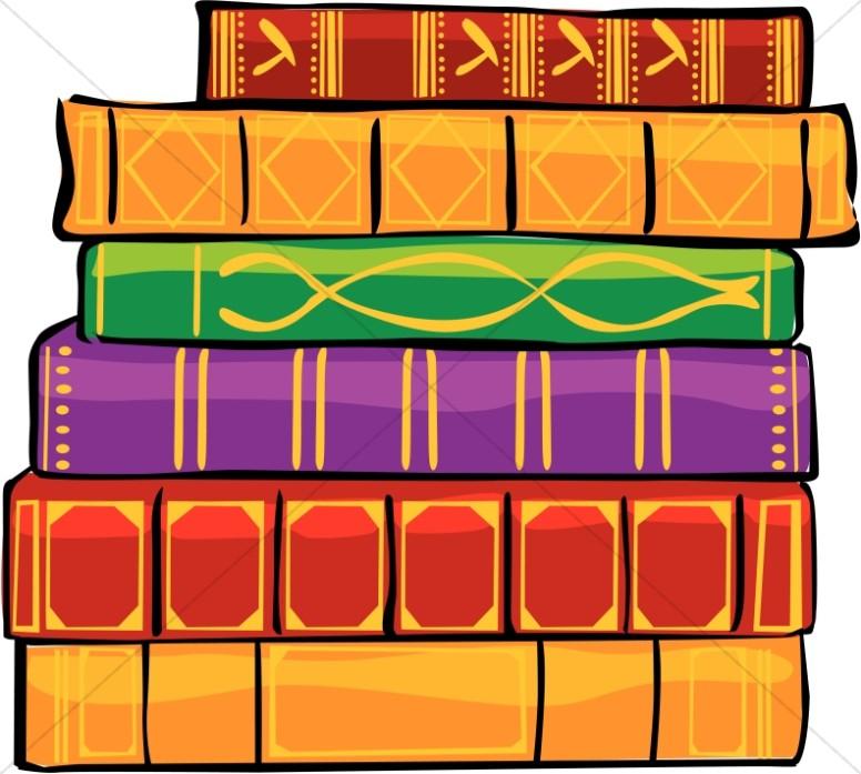 Decorative Bound Library Books