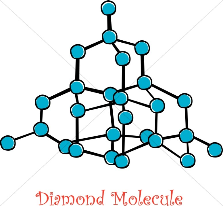 Diamond Molecule Diagram Christian Classroom Clipart