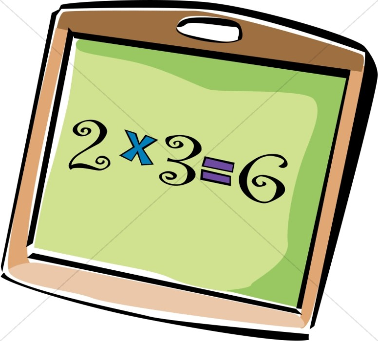 School Multiplication Chalkboard