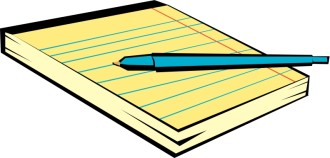 Pen and Yellow Notepad