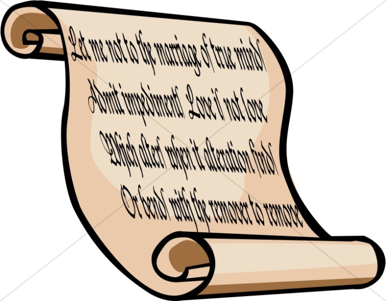 Bible Love Quote Scroll