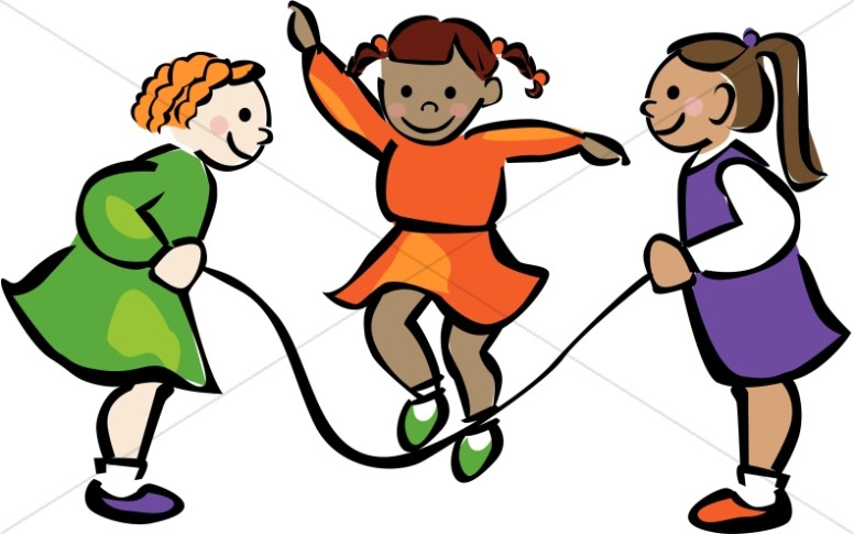 Girls Playing Jump Rope