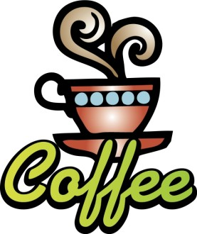 Neon Coffee Sign Clipart