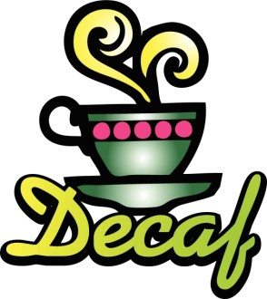 Decaf Coffee Word Art