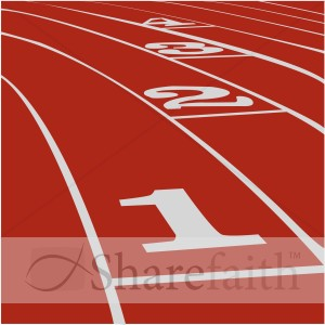 Red Track Inspirational Clipart