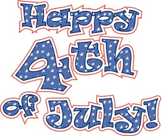 Stars n' Stripes 4th of July Wordart