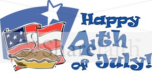American Pie 4th of July Wordart
