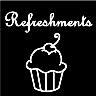 Refreshments Script with Cupcake Outline
