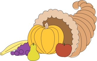 Kid's Style Cornucopia with Pumpkin and Fruit