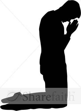 Man Kneeling In Prayer Silhouette