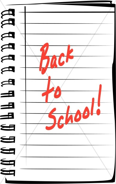 Back to School Ringed Notebook