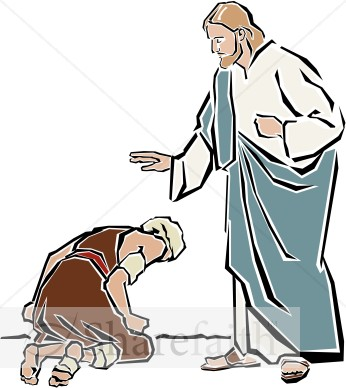 Jesus Heals The Leper New Testament Clipart