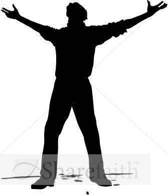 Man with Arms Open to Heaven