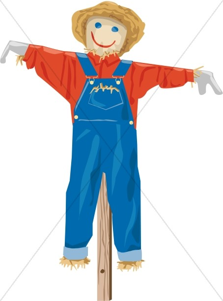 Scarecrow in Overalls