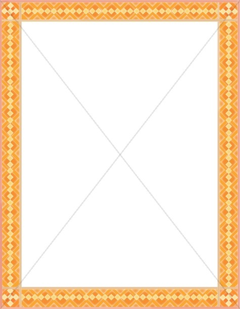 Contemporary Orange Border