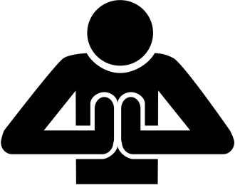 Praying Person Front View Symbol