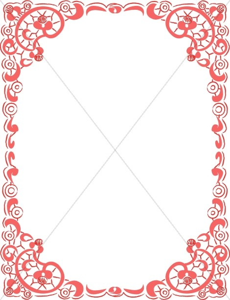 Decorative Red Frame