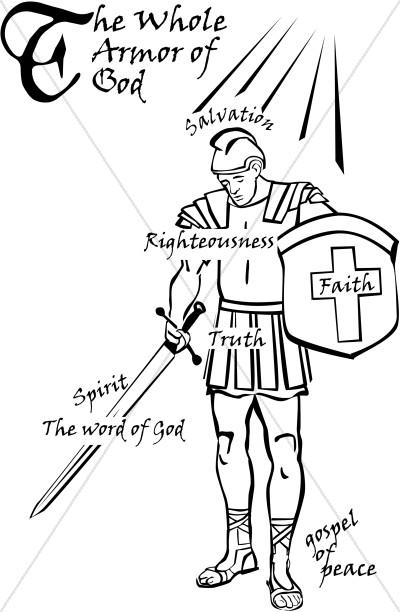 Armor of God Word Art