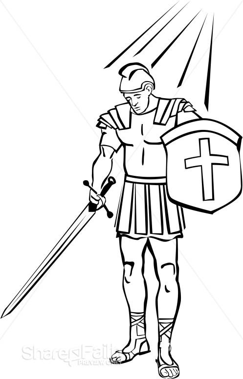 Spiritual Warfare Coloring Page