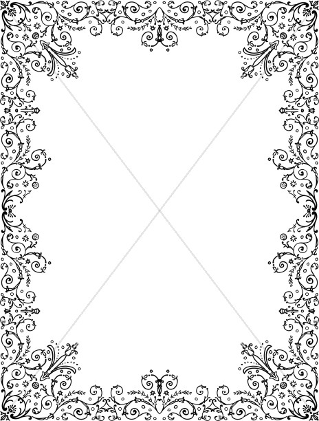 Intricate Floral Border