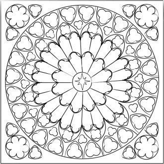 Black and White Rose Window