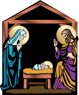 Nativity with Mary, Joseph and Jesus
