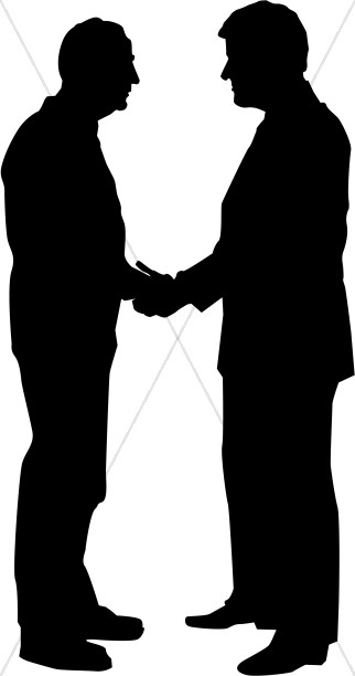 Two Older Men in Silhouette