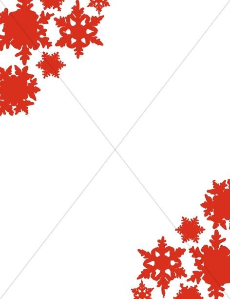 Red Corner Snowflakes