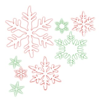 Window Pane Snowflakes