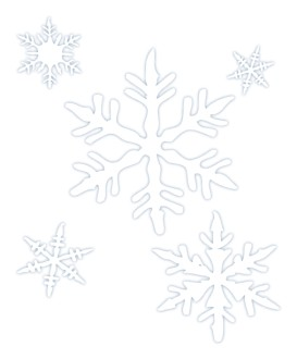 Snowflakes in Outline