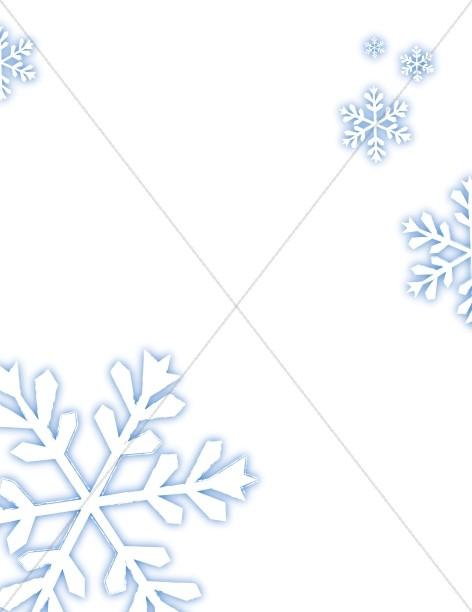 Merry Falling Snowflakes