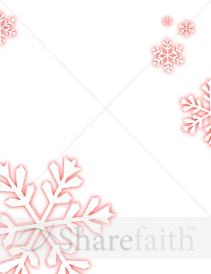 Blurred Edge Snowflakes