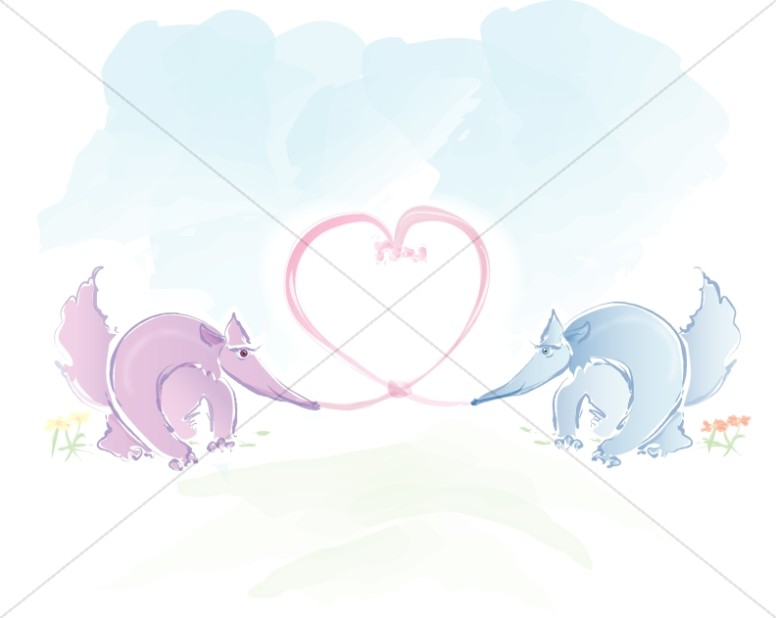Anteaters in Love