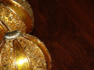 Two Golden Ornaments