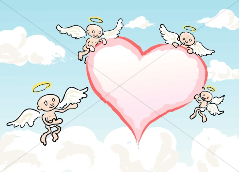 Angels Surrounding a Heart