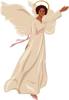 Female Angel Flying Clipart