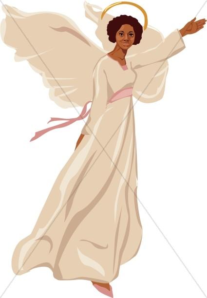 Female Angel Flying Clipart