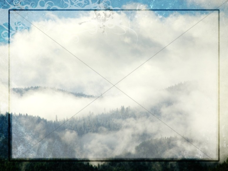 Wintry Mist, Clouds and Mountains