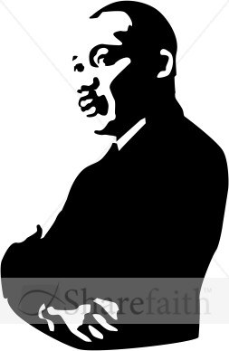 Martin Luther King Jr. Arms Folded | Martin Luther King Clipart