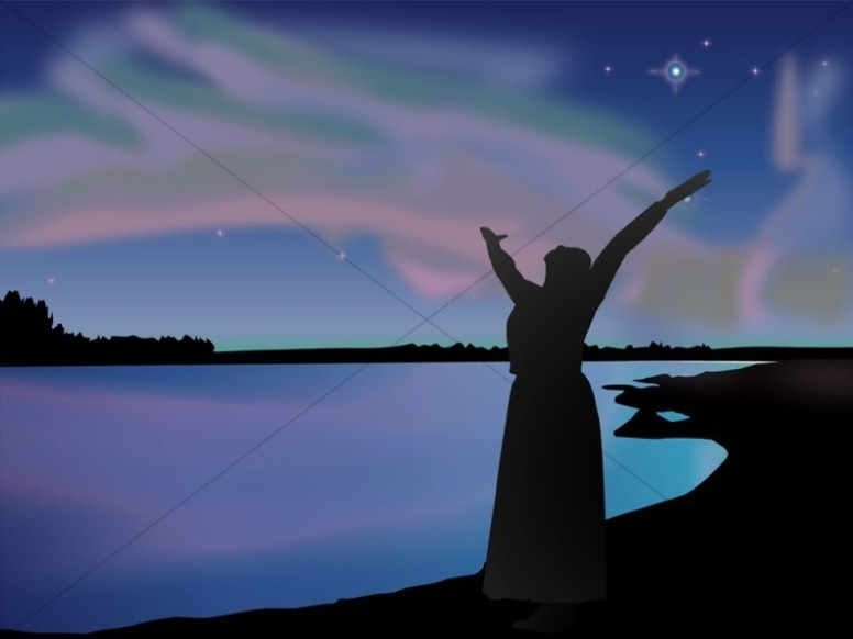 Praiser Under a Majestic Sky