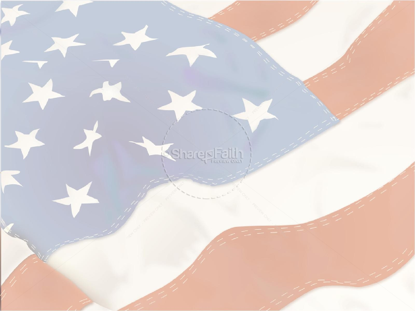 American Flag with Stitching
