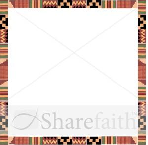 Kente Cloth Square Religious