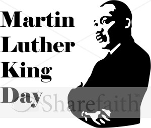 Martin Luther King Day with Silhouette | Martin Luther King Clipart