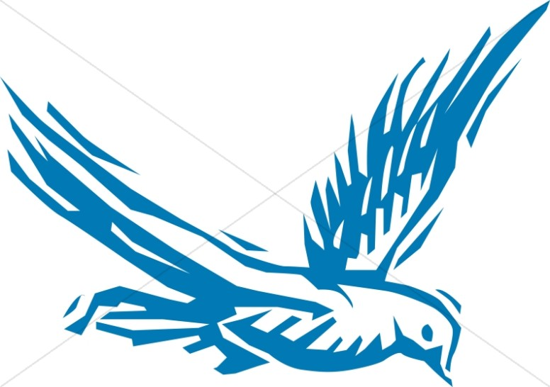 Blue Dove Soaring