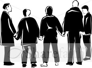 Prayer Group in Black and White | Prayer Clipart
