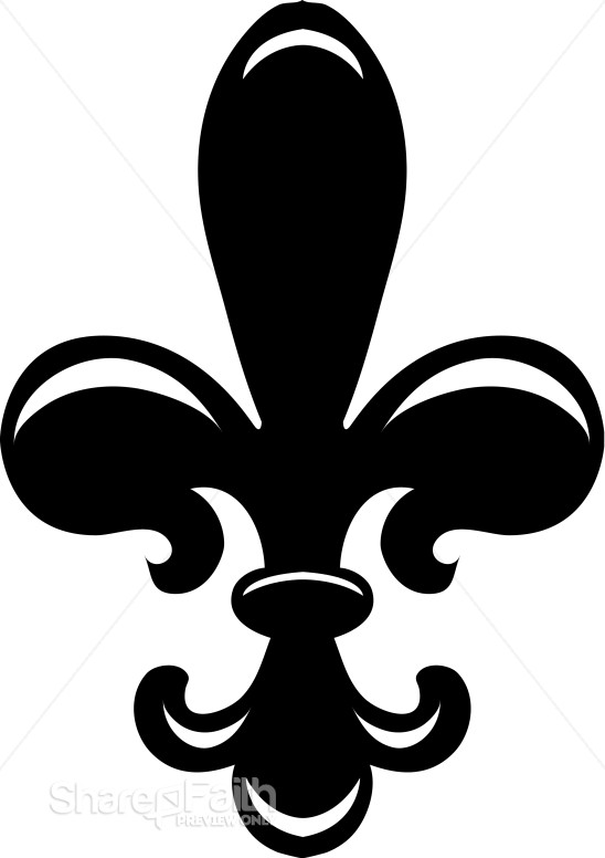 Classic Fleur de lis in Black and White