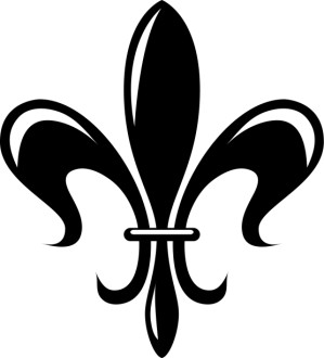 Stylized Fleur de lis